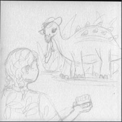Dino Zoo 9 Prelim sketch 25%